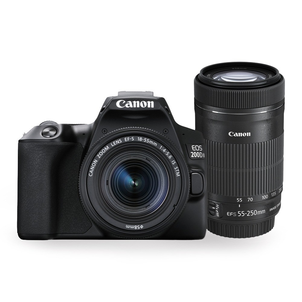 Canon EOS 200D II DSLR Camera with 18-55 mm and 55-250 mm Dual Lens Kit