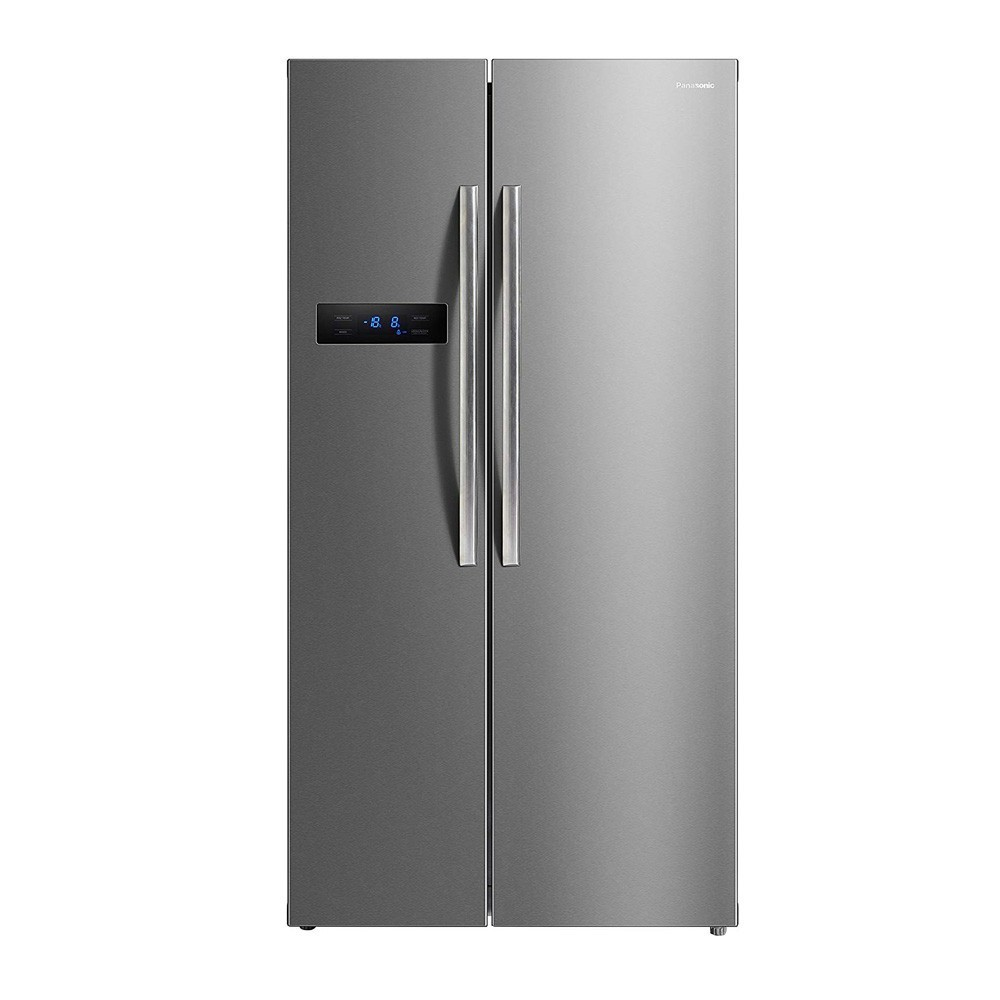 Panasonic 584 litres Side-by-Side Refrigerator, Stainless Steel NR-BS60MSX1