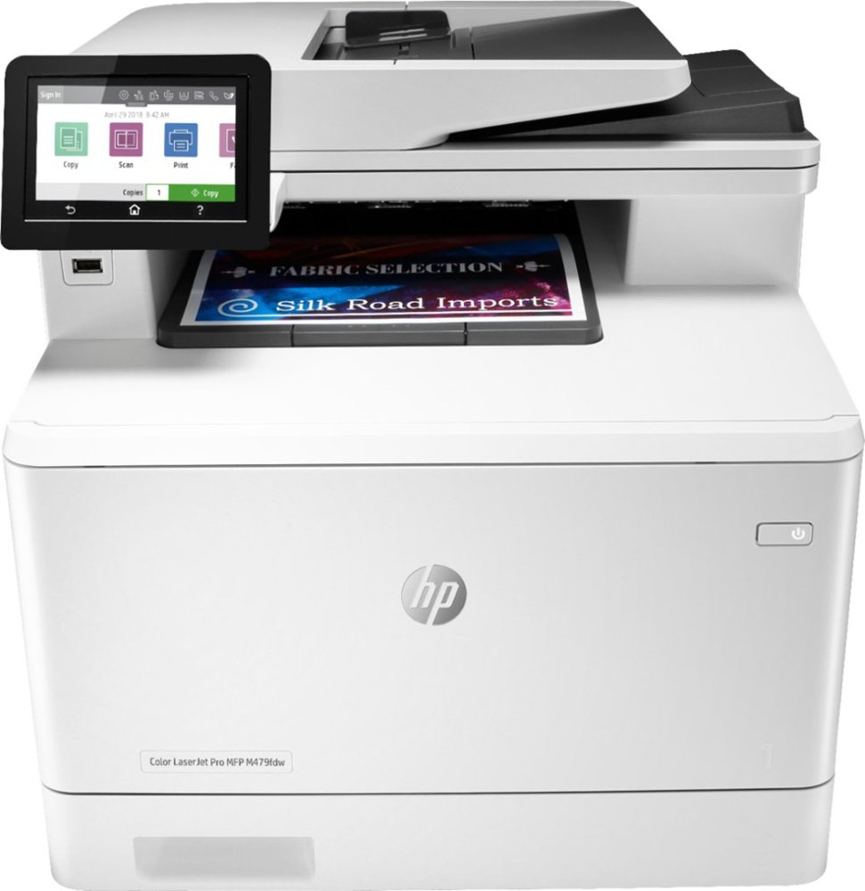 HP - LaserJet Pro M479fdw Wireless Color All-In-One Laser Printer - White