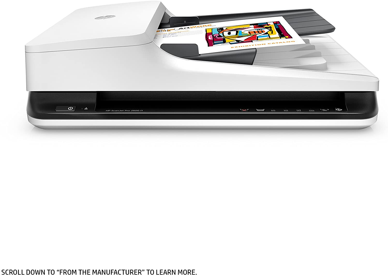 HP ScanJet Pro 2500 f1 Flatbed OCR Scanner, 4.8