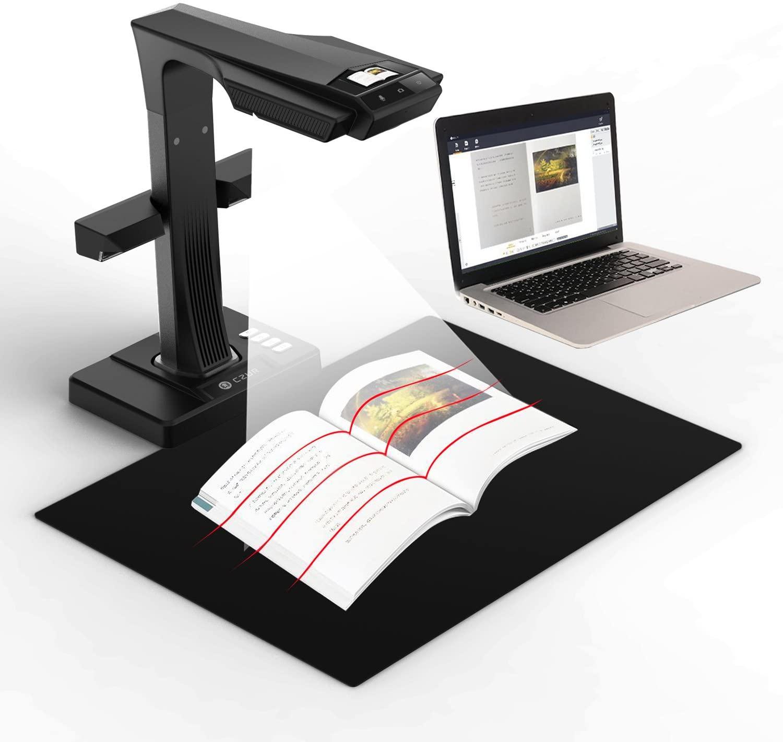 CZUR ET16 Plus Advanced Book & Document Scanner, 2nd Gen Auto-Flatten&Deskew Tech, 16MP Sony Camera, Capture A3, 186 Languages OCR, Convert to PDF/Searchable PDF/Word/Tiff/Excel, Run On Windows&MacOS