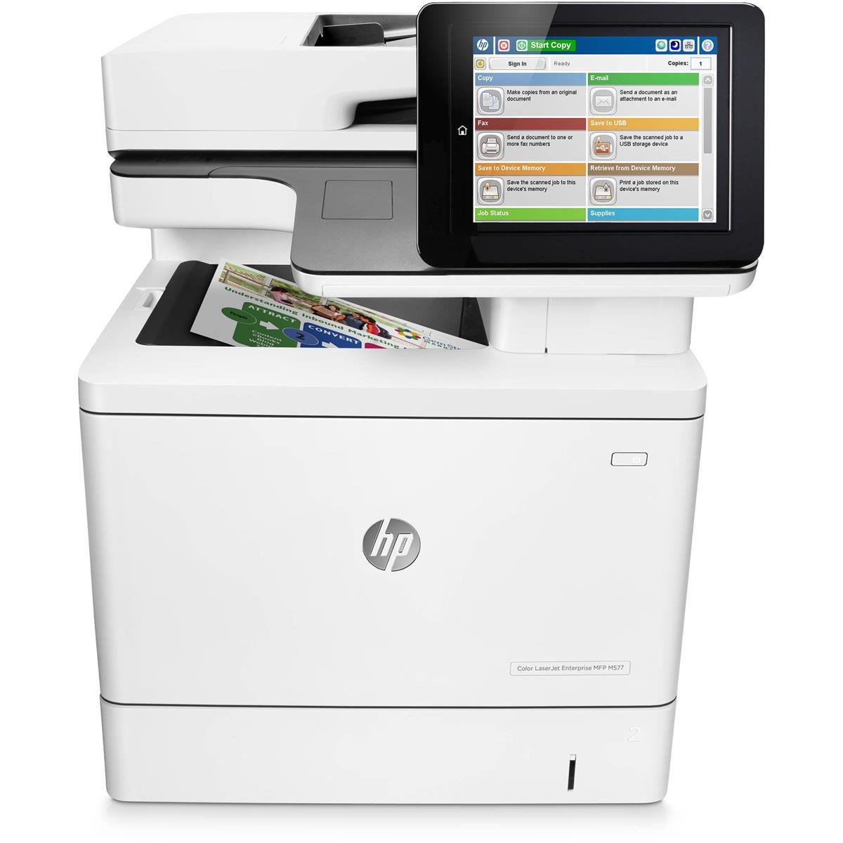 HP Color LaserJet Enterprise MFP M577dn Multifunction Color Printer