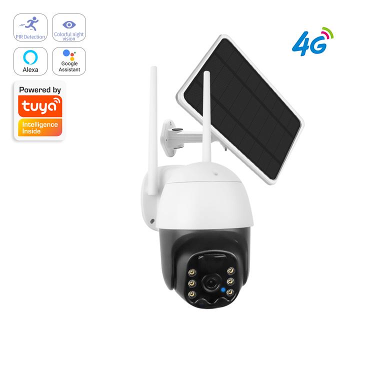 SQG-1L Outdoor yard lamp night light no wires Ip67 Wireless 1080p Ip PTZ Security Surveillance Solar 4G
