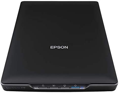Epson Perfection V19 Color Photo & Document Scanner with scan-to-cloud & 4800 dpi optical resolution , Black